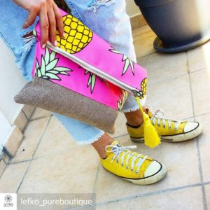 Pink Pineapple foldover