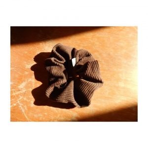 Brown Cord Scrunchy