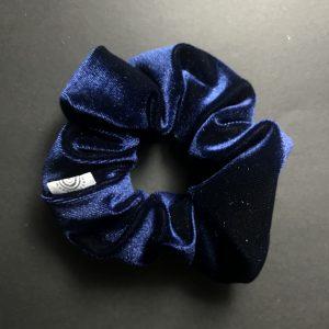 Deep Blue Velvet Scrunchy