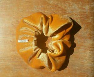 Caramel Velvet Scrunchy