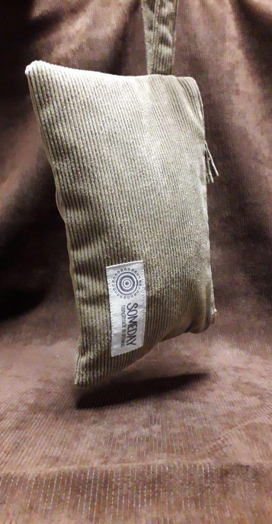 Beige Corduroy Bag
