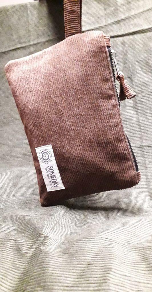 Brown Corduroy Bag