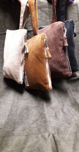 Dark Blue Corduroy Bag