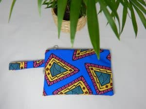 Blue Paisley Small size Bag