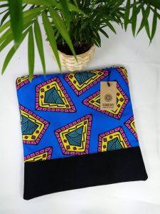 Blue Paisley Foldover Bag