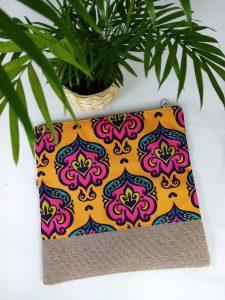Yellow Damask Foldover Bag