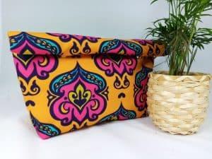 Yellow Damask Lunch Bag