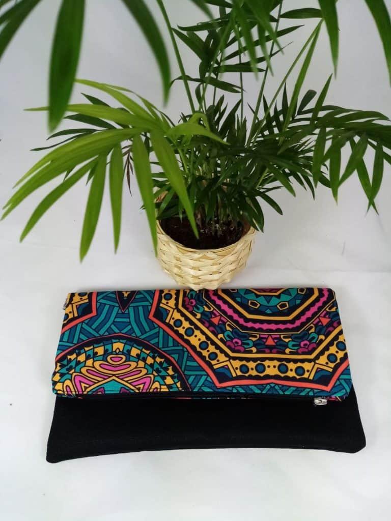 Green Mandala Foldover Bag