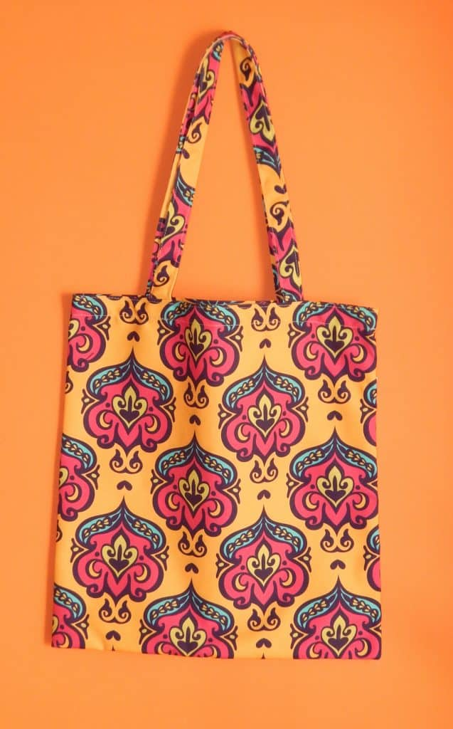 Yellow Damask Tote Bag