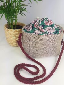 Small Cross-body Basket Lily Green