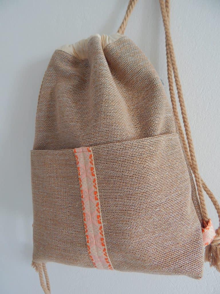 Backpack pink strap