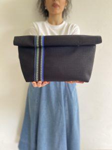 Oversized Black Linen Blue-Black