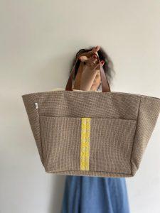 Beige Linen Basket