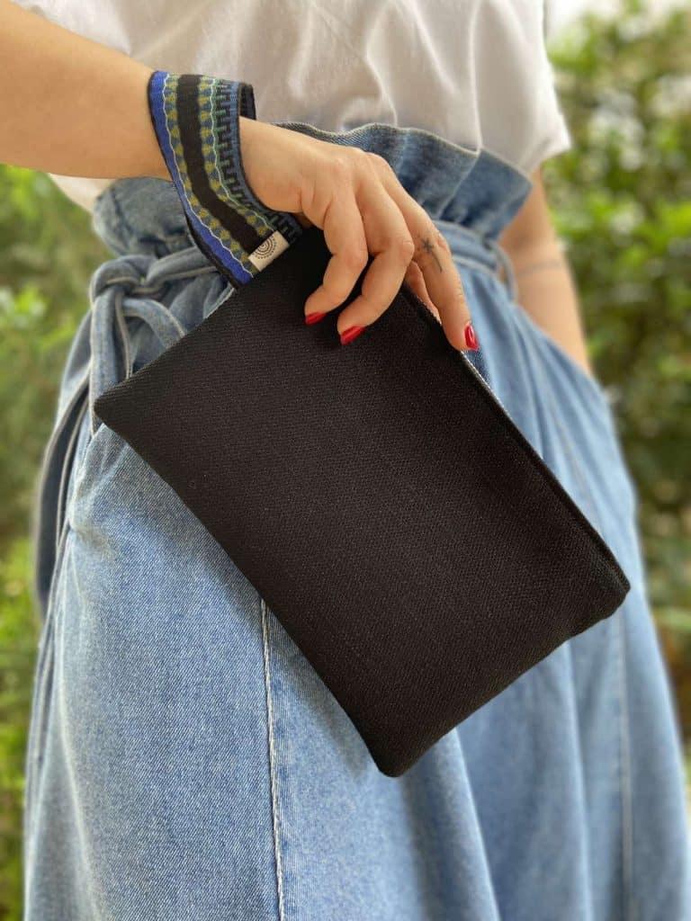 Small Black Linen