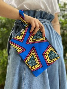 Blue Paisley Small size Bag
