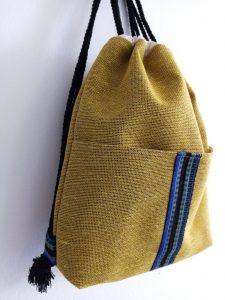 Backpack Yellow Linen