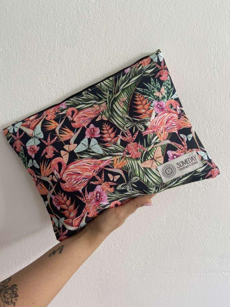 Black Flamingo Medium Bag