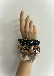Black Rose Combo Scrunchies