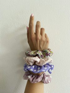 Purple Combo Scrunchies