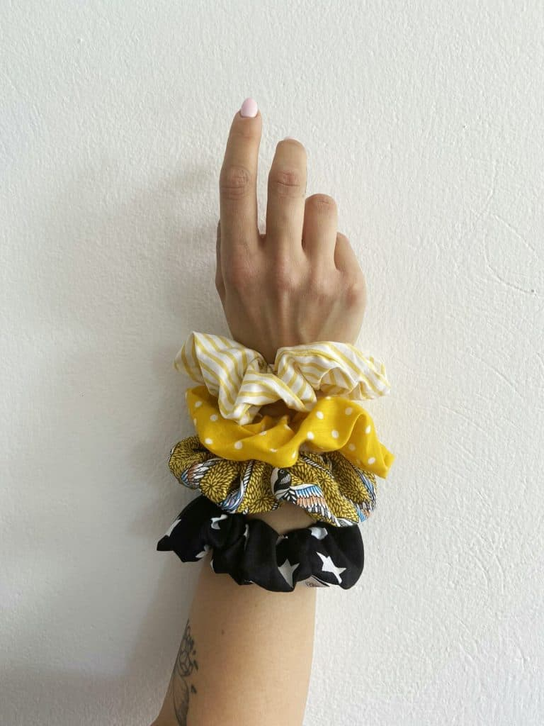 Yellow Combo Scrunchies