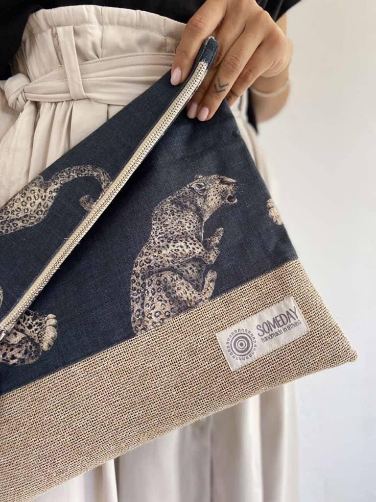 Leopard Foldover Bag