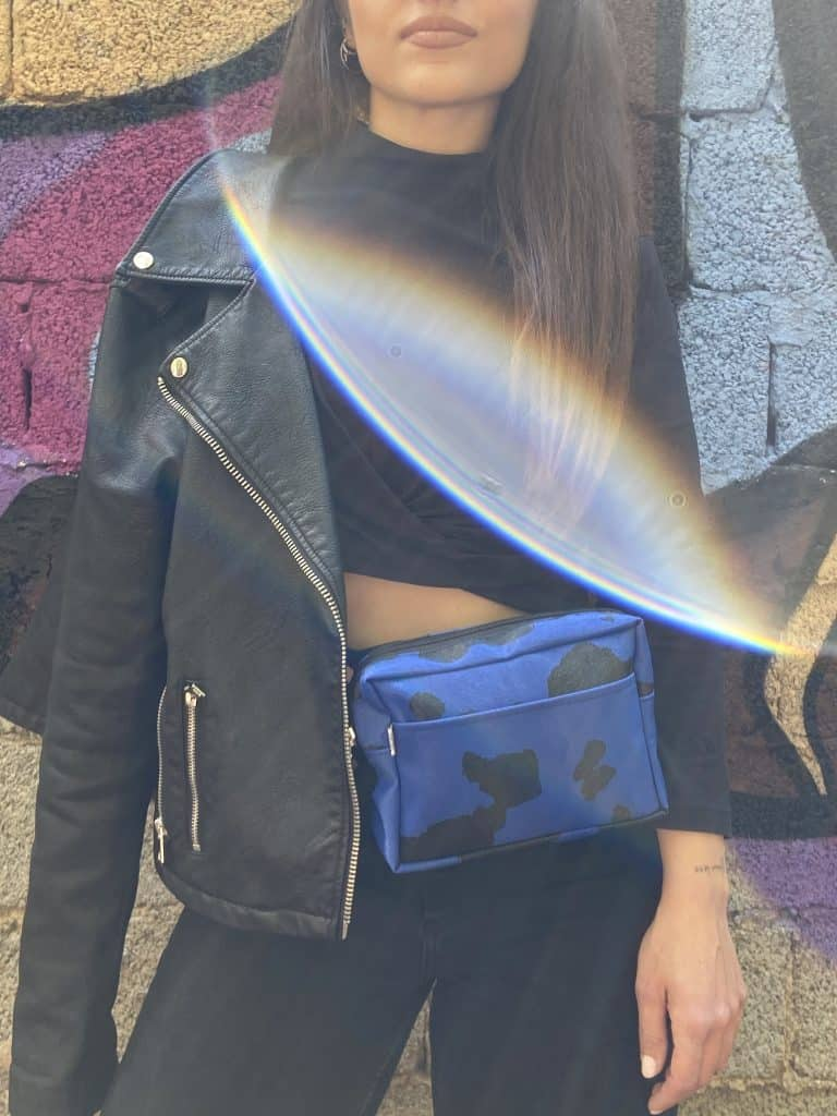 Blue Cow Belly Bag