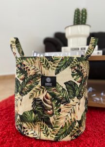Tropical Leaf Basket Large