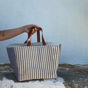 Blue Stripes Basket