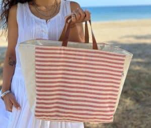 Red Stripes Basket