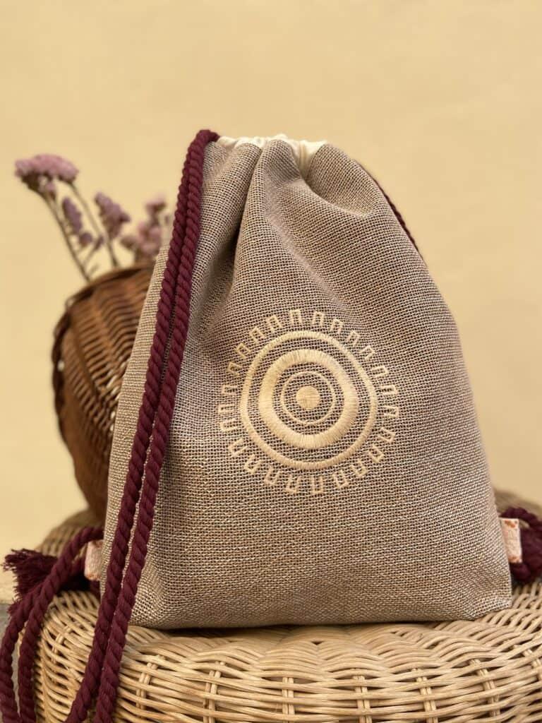 Natural Linen Backpack